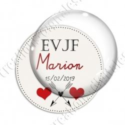 Image digitale - Personnalisable - EVJF Coeur et flêches
