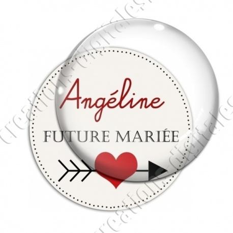 Image digitale - Personnalisable - Future mariée Coeur et flêche