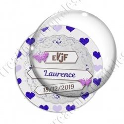 Image digitale - Personnalisable - EVJF dentelle et coeurs violets