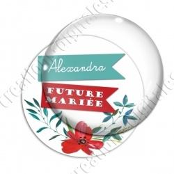 Image digitale - Personnalisable - Future mariée coquelicot