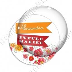 Image digitale - Personnalisable - Future mariée fleurs