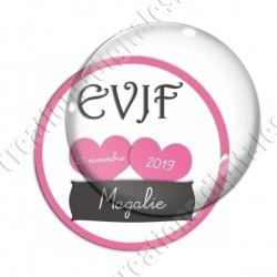 Image digitale - Personnalisable - EVJF 2 coeurs roses
