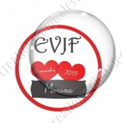 Image digitale - Personnalisable - EVJF 2 coeurs rouges