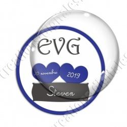 Image digitale - Personnalisable - EVG 2 coeurs bleus