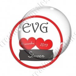 Image digitale - Personnalisable - EVG 2 coeurs rouges