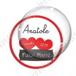Image digitale - Personnalisable - Futur marié 2 coeurs rouges