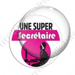 Image digitale - Super Secrétaire - Rose