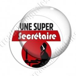 Image digitale - Super Secrétaire - Rouge