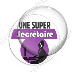 Image digitale - Super Secrétaire - Violet