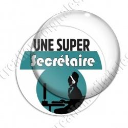 Image digitale - Super Secrétaire - Turquoise