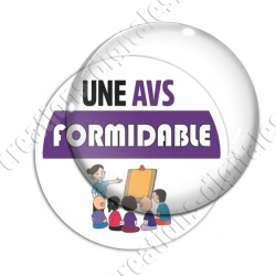 Image digitale - Une AVS formidable - Violet