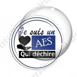 Image digitale - AES qui déchire - Bleu