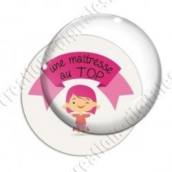 Image digitale - Une maîtresse au top - fille rose