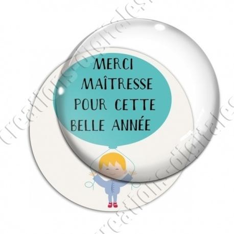 Image digitale - Merci maîtresse - Bleu