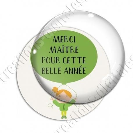Image digitale - Merci maître - Vert