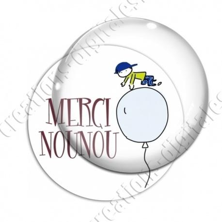 Image digitale - Merci Nounou - Ballon gars