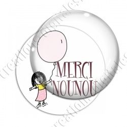 Image digitale - Merci Nounou - Ballon fille