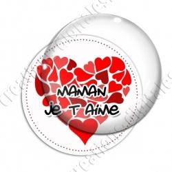 Image digitale - Fond coeur rouge  - Maman je t'aime
