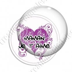 Image digitale - Fond coeur arabesque - Maman je t'aime