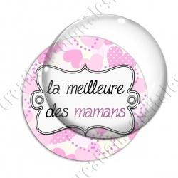 Image digitale - Fond coeur pois - maman meilleure