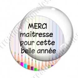 Image digitale - Merci maitresse - Fond crayons