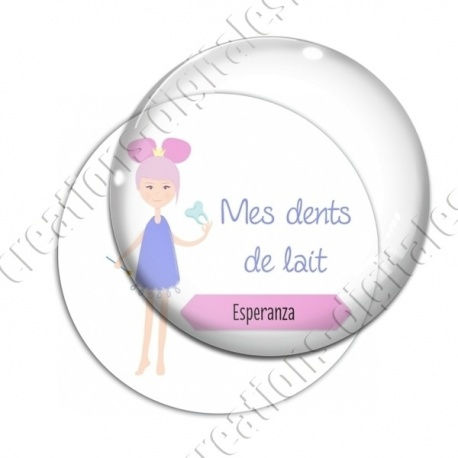Image digitale - Personnalisable - Mes dents de lait 01