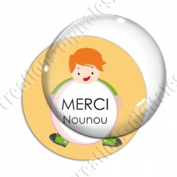Image digitale - Merci nounou- Enfant ballon