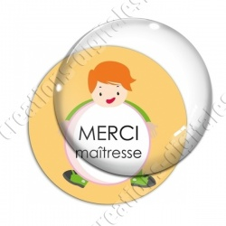 Image digitale - Merci maîtresse - Enfant ballon