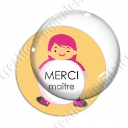 Image digitale - Merci maître - Enfant ballon 02