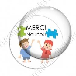 Image digitale - Merci nounou- Enfant puzzle