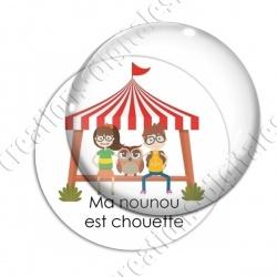 Image digitale - Chouette nounou chapiteau