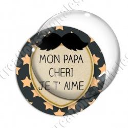 Image digitale - Mon papa chéri - Moustache