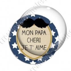 Image digitale - Mon papa chéri - Moustache 02