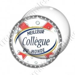 Image digitale - Meilleur collègue... blanc- capsule