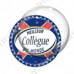 Image digitale - Meilleur collègue... bleu- capsule