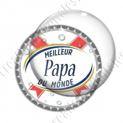 Image digitale - Meilleur papa... blanc- capsule