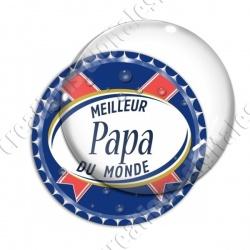Image digitale - Meilleur papa... bleu- capsule