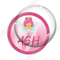 Image digitale - Fée rose 02 - ASH