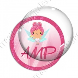 Image digitale - Fée rose 02 - AMP
