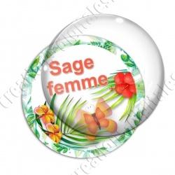 Image digitale - Tropical papillon - Sage femme