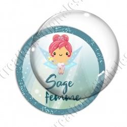 Image digitale - Fée turquoise - Sage femme