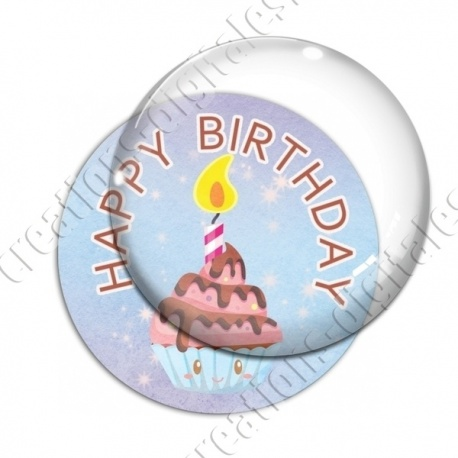 Image digitale - Happy birthday - gâteau