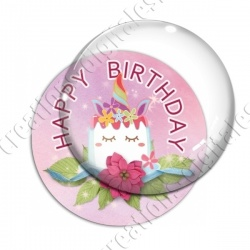 Image digitale - Happy birthday - licorne 02