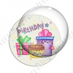 Image digitale - Happy birthday - cadeaux aquarelle