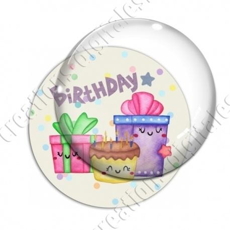 Image digitale - Happy birthday - cadeaux aquarelle