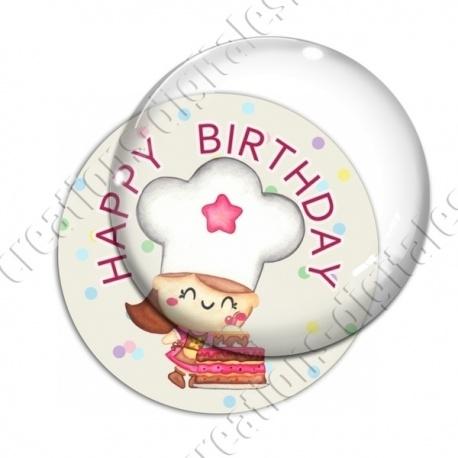 Image digitale - Happy birthday - cuisinière aquarelle