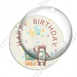 Image digitale - Happy birthday - Ours et cadeaux