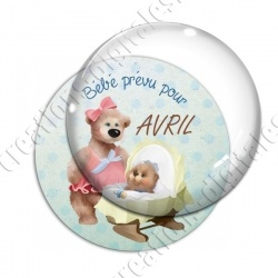Image digitale - Bébé garçon- Avril