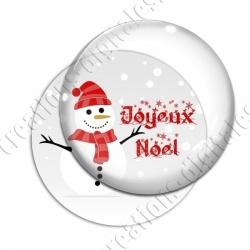 Image digitale - Joyeux noël - Bonhomme de neige