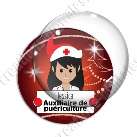 Image digitale - Auxiliaire de puériculture thème noel